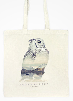 Faunascapes Totebag Owl